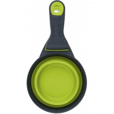 Dexas Клип Скуп Мерный стакан складной на клипсе для собак и кошек 480 мл, зеленый
