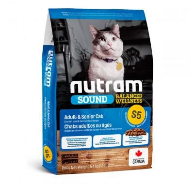 Nutram S5 Sound Balanced Wellness Adult & Senior Cat 320 г