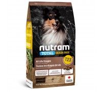 Nutram T23 Total Grain-Free с индейкой, курицей и уткой 2 кг