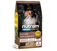 Nutram T23 Total Grain-Free с индейкой, курицей и уткой 11,4 кг