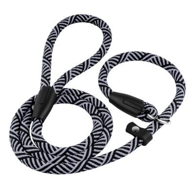 Поводок Удавка для Собак Bronzedog Active из Альпинистского Шнура Черно-Серый