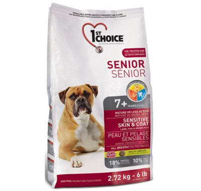 1st Choice Senior 7+ Sensitive Skin & Coat 12 кг