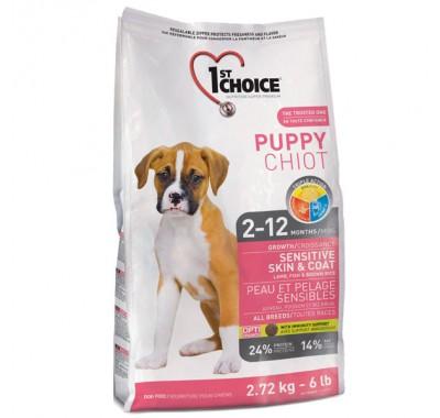 1st Choice Puppy All Breeds - Sensitive Skin & Coat 14 кг