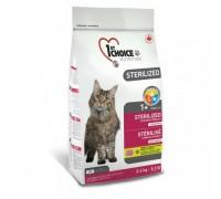1st Choice Sterilized Chicken для кастрированных котов и стерилизованных кошек 2,4 кг