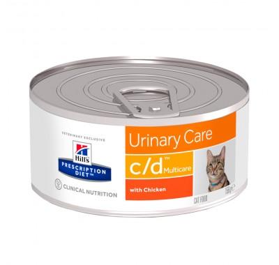 Hill's PD Canine C/D Влажный корм для котов с курицей 156г