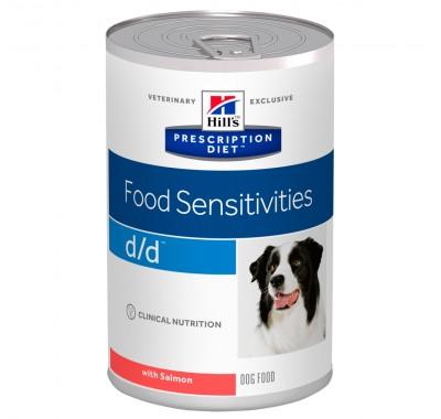 Hill's PD Canine D/D Food Sensitives Влажный корм для собак с лососем 370г
