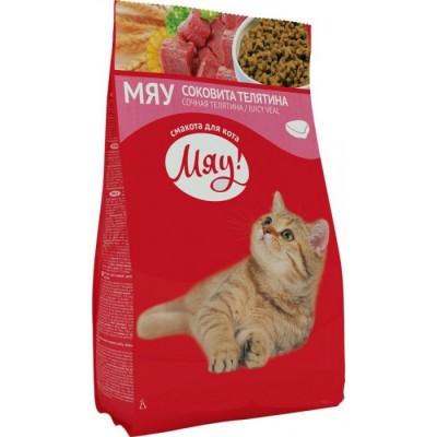 Мяу телятина сухой корм для взрослых кошек, 14кг