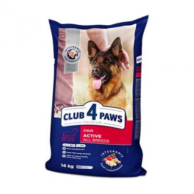 Club 4 Paws Premium сухий корм для взрослых активных собак всех пород