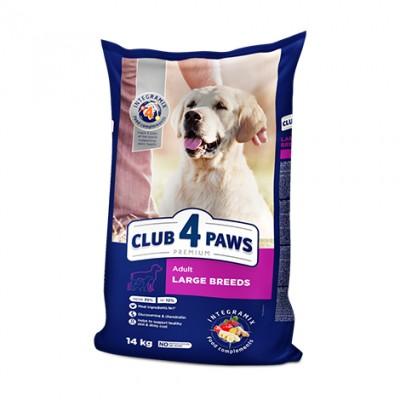 Club 4 Paws Premium сухой корм для взрослых собак крупных пород 14 кг