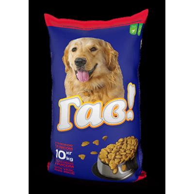 Гав сухой корм для собак телятина с рисом 10 кг