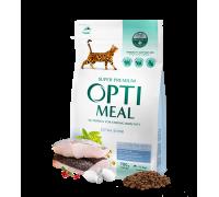 Optimeal корм для взрослых кошек с треской 4 кг