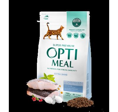 Optimeal корм для взрослых кошек с треской 700 г
