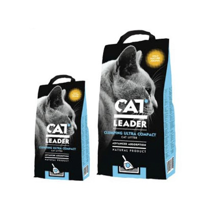 Cat Leader Wild Nature ультра-комкующийся с запахом в кошачий туалет 2 кг