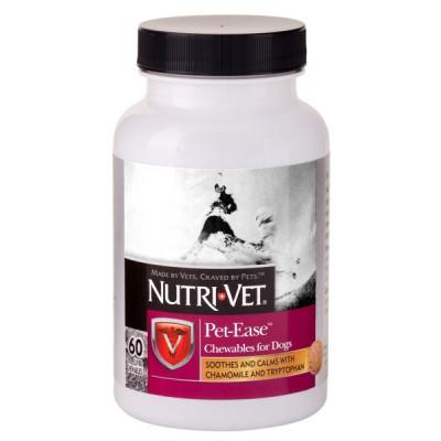 Nutri-Vet Pet Ease НУТРИ-ВЕТ АНТИ-СТРЕСС успокаивающее средство для собак, жевательные таблетки