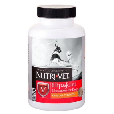 Nutri-Vet Hip&Joint Regular НУТРИ-ВЕТ СВЯЗКИ И СУСТАВЫ РЕГУЛЯР, хондроитин и глюкозамин для собак с МСМ