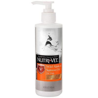 Nutri-Vet Salmon Oil НУТРИ-ВЕТ МАСЛО ДИКОГО ЛОСОСЯ добавка для шерсти собак, жидкая