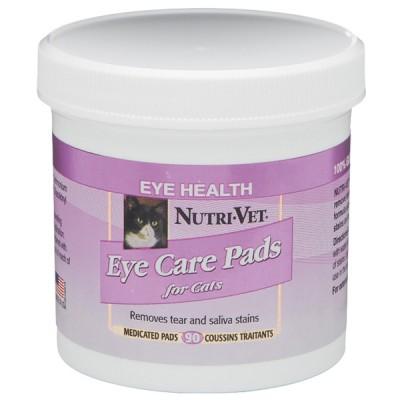 Nutri-Vet Tear Stain Removal cat НУТРИ-ВЕТ ОЧИСТКА ПЯТЕН влажные салфетки для кошек, от пятен под глазами, вокруг пасти и на лапах