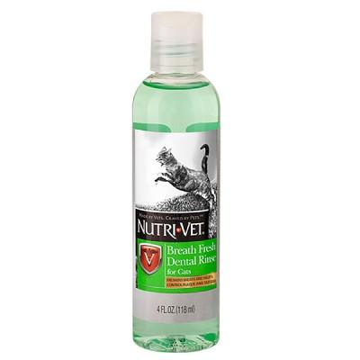 Nutri-Vet Breath Fresh НУТРИ-ВЕТ СВЕЖЕЕ ДЫХАНИЕ жидкость для кошек от зубного налета и запаха из пасти, концентрат 118 мл