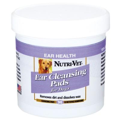 Nutri-Vet Dog Ear Wipe НУТРИ-ВЕТ ЧИСТЫЕ УШИ влажные салфетки для гигиены ушей собак 90 шт