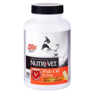 Nutri-Vet Fish Oil НУТРИ-ВЕТ РЫБИЙ ЖИР добавка для шерсти собак