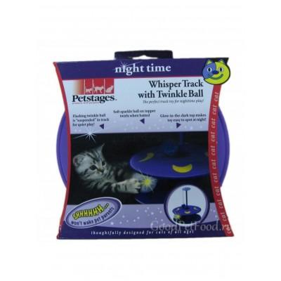 Petstages Игрушка для котов Светящийся в Темноте Виспер Трек