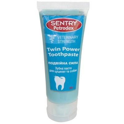 SENTRY Petrodex Twin Power отбеливающая зубная паста для собак 30 г